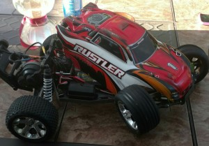 Traxxas Rustler waded up