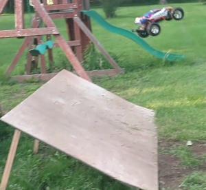 Traxxas Rustler homemade jump