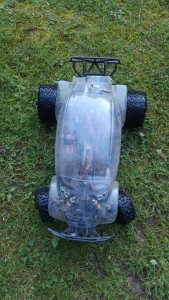 Traxxas Slash with baja beetle body