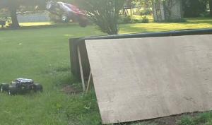 Traxxas Rustler jumping