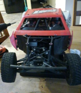 losi front body removed