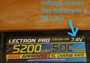 Lectron 2S LiPo Battery