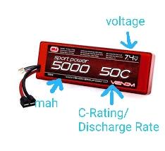 Venom 2S 5000mAh 50c LiPo Battery
