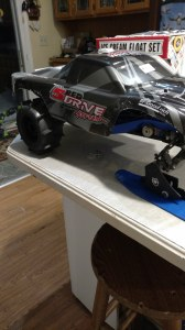 Traxxas slash snow skis and paddle tires