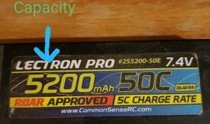Lectron 2S LiPo capacity