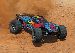 Rustler 4x4 shredding the terrain